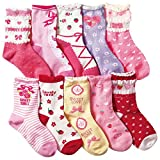 (コナミヤ) Konamiya 女の子 靴下 のびのびクルー丈ソックス 10足セット 子供 キッズ ガール [並行輸入品]
