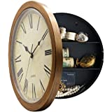 FlorLife Wooden Wall Clock Decorative Wall Clocks Silent White 12Inch White 1Pcs
