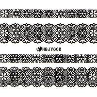 ネイルシール レース 選べる96種類 (RG(ゴールド), 08)