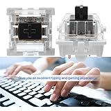 10個入 メカニカルキースイッチ メカニカルキーボード メカニカル押しボタンスイッチ ゲーミングキーボードキースイッチ 黒軸 キーボードDIY メカニカルな触感 キーボード修理 交換用品