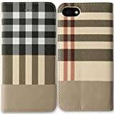[LivelyLife] iPhone 7 カバー 手帳型 チェック柄 おしゃれ 高級レザー アイフォン7 ケース スタンド付き おしゃれ(タイプ3)