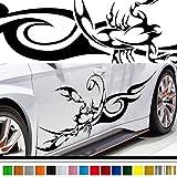 サソリカーステッカー80車用■蠍バイナルグラフィックワイルドスピード系デカール(ブラック)★色変更可★