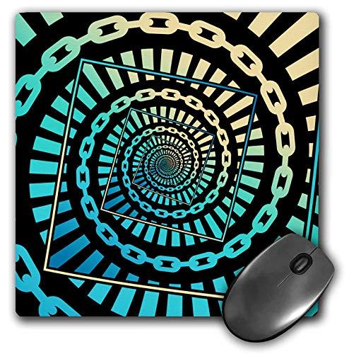 3dRose マウスパッド グラフィックデザイン ディスクゴルフチェーン ドロステ効果を使って無限に回転 - 8 x 8インチ (mp_292654_1)