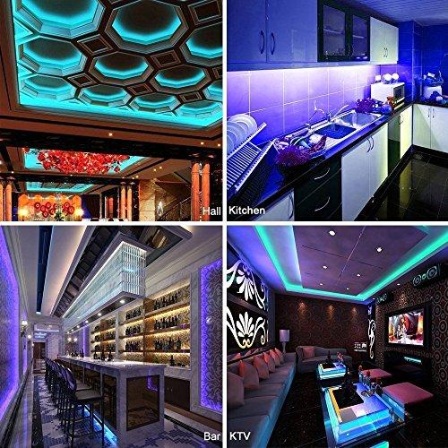 LEDストリップライト多色SMD 5050 RGBWフレキシブルLEDリボン5メートル16.4フィート300 LED + 40キーIRコントローラ+ 12V5A DC電源アダプタ(防水)