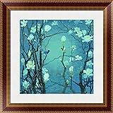 """インクWash Unframed Chinese油彩画のモクレン花と鳥の壁20"""" x20"""" 322016-2"""