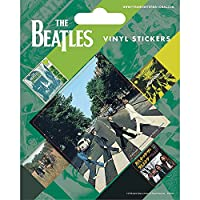 BEATLES ビートルズ - ABBEY ROADステッカー5個セット / ステッカー 【公式/オフィシャル】