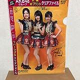 AKB48グループ サイン入り クリアファイル 限定品