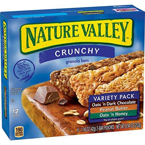Nature Valley Crunchy Granola Bars ネイチャーバレー クランチーグラノーラバー250g [並行輸入品]