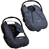 Cozy Cover Premium Infant Car Seat Cover (Charcoal) with Polar Fleece - The Industry Leading Infant Carrier Cover Trusted by
