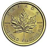 7.7758グラム 金 カナダ メイプルリーフ 10ドル ゴールド コイン 24K 1/4オンス 純金 インゴット 金貨 真空パック入り