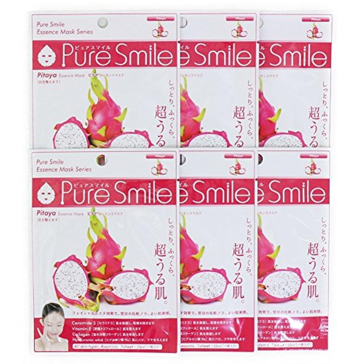 いつも医師刺繍Pure Smile ピュアスマイル エッセンスマスク ピタヤ 6枚セット
