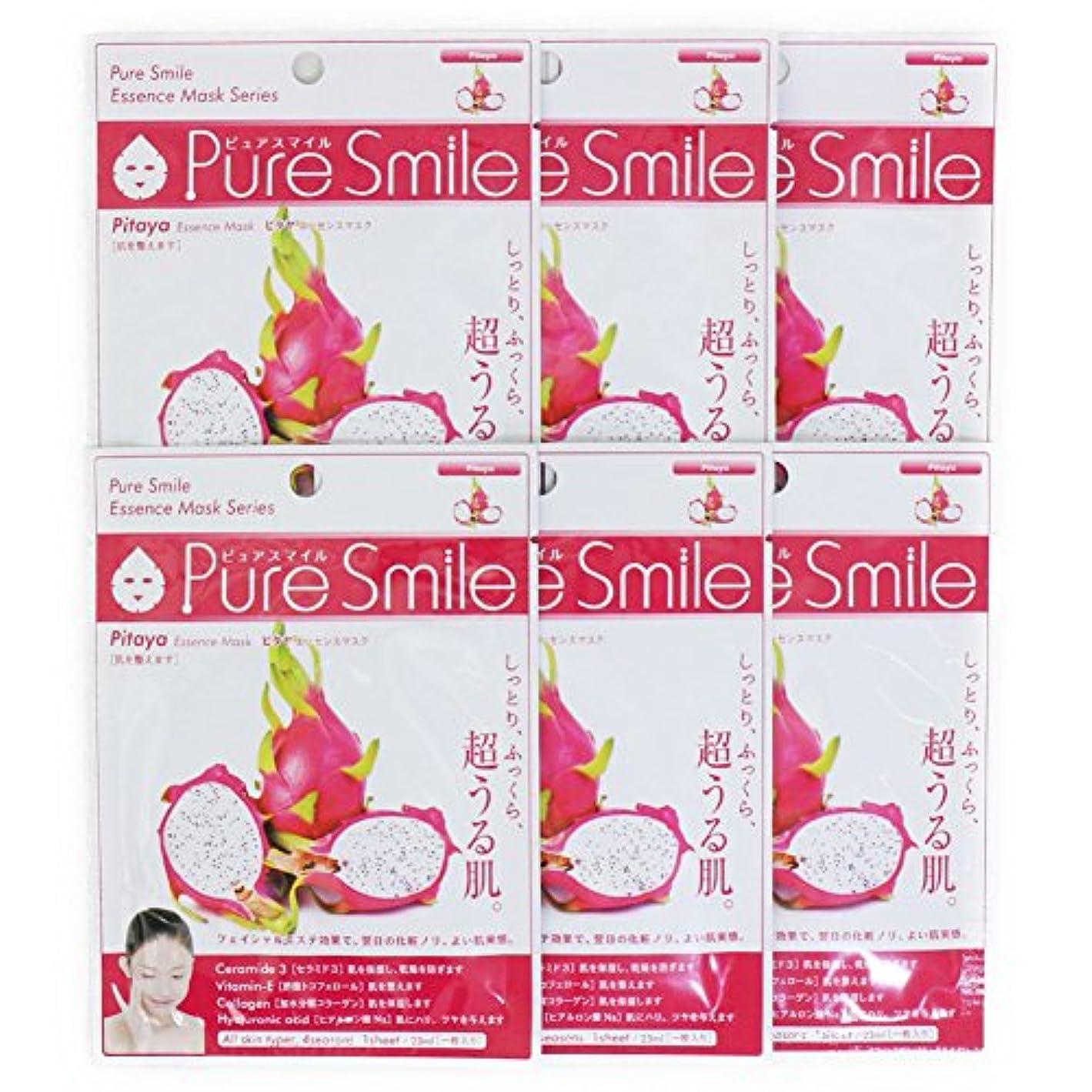 導出アンプ世論調査Pure Smile ピュアスマイル エッセンスマスク ピタヤ 6枚セット