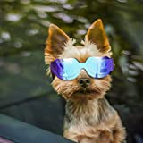 Enjoying Small Dog Sunglasses - Dog Goggles for UV Protection Sunglasses Windproof with Adjustable Band for Puppy Doggy Cat -