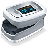 Beurer PO30 Fingertip Pulse Oximeter, Blood Oxygen Saturation & Heart Rate Monitor, 4 Colored Graphic Display Formats, Extra-