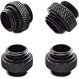 """SDTC Tech 4-Pack G1/4"""" 5mm Male to Male Connector with Sealed O-Ring for PC Water Cooling Systems Extender Fitting"""