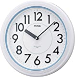 MAG(マグ) 掛け時計 非電波 アナログ アクアガード 直径27.8cm 防塵 防水仕様 IP67 ホワイト W-66…