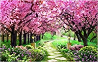 LJJLM 壁紙カスタム壁画写真さくら森ガーデン装飾画像ルーム絵画3d壁壁画壁紙用壁-260X180CM