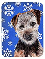 Caroline's Treasures Norfolk Terrier Puppy Winter Snowflakes Mouse Pad/Hot Pad/Trivet (SC9783MP) [並行輸入品]