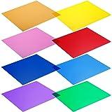 NEEWER 照明用カラーフィルター(八枚セット) 30x30cm 赤/黄/オレンジ/緑/紫/ピンク/水色/紺色【並行輸入品】