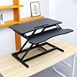 Height Adjustable Stand up Desk Converter Quick Sit to Stand Tabletop Riser - with Keyboard Tray