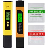 Portable Digital TDS/EC+PH Meter Pen with Auto Calibration Button, Digital Accuracy Water Quality Monitor Pen Style Portable