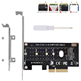 NVMe PCIe Adapter, M Key M.2 NVME SSD to PCI-e 3.0 x4 Host Controller Expansion Card with Low Profile Bracket, PCIe NVME Adap