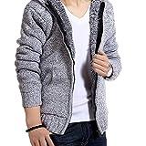 メンズ テーラードジャケット ONE LIMITATION(ワン リミテーション) 裏起毛 厚手 ニット カーディガン セーター フード付 パーカー メンズ HPK001