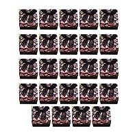 Fenteer 24個 カラー用紙 ダンボール 小売ボックス ジュエリー ネックレス イヤリング ペンダント チャーミング 全4色 - ブラック
