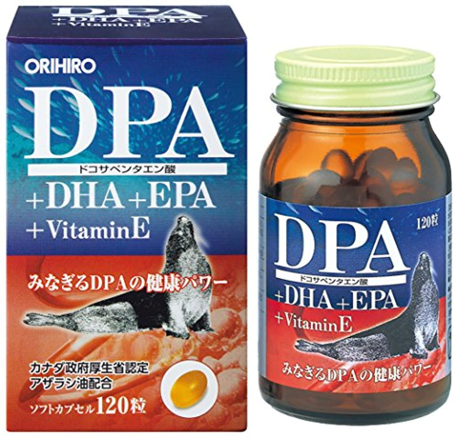 敬やりがいのあるメダルオリヒロ DPA+DHA+EPA+VitaminE 120粒