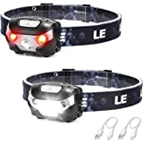 LED Rechargeable Headlamp Flashlights, Headlights with 5 Lighting Modes, Adjustable and Comfortable for Kids and Adults, Easy
