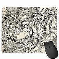 カオス神ゲームマウスパッドマウスパッド滑り止めラバーマウスマット長方形マウスパッド用デスクラップトップ事務作業