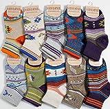 【靴下 キッズ】 ミドル丈ソックス | ネイティブデザインの10足セット | 男の子靴下 | 子供靴下 | キッズソックス (15-19cm)