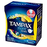 Tampax Pocket Pearl Unscented Regular Absorbency Tampons, 18ct