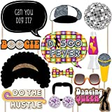 70's Disco - 1970S Disco Fever Party Photo Booth Props Kit - 20 Count