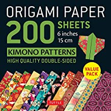Origami Paper 200 sheets Kimono Patterns: 6 inches (15 cm)