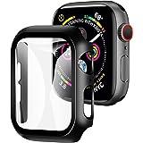 【2021改良モデル】YOFITAR Apple Watch 用 ケース series6/SE/5/4 40mm アップルウォッチ保護カバー ガラスフィルム 一体型 PC素材 全面保護 超薄型 装着簡単 耐衝撃 高透過率 指紋防止 傷防止 ブラック
