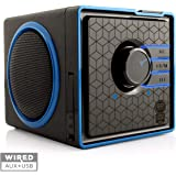 Portable Speaker by GOgroove - SonaVERSE BX Rechargeable Compact Speaker with Removable 3-5 Hour Battery AUX & USB Inputs Pla