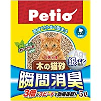 ペティオ (Petio) 瞬間消臭・木の猫砂5L