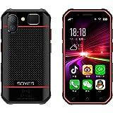 SOYES S10 4G対応 SIMフリー 超小型 3インチ カードサイズ Android 6.0 スマートフォン 防塵 防水 タフネス設計 指紋認証 顔認証 (レッド)