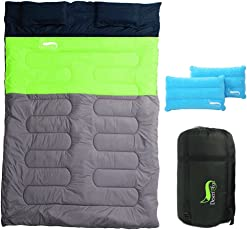 DesertFox 寝袋 丸洗できる 封筒型 シュラフ 1kg 1.4kg オールシーズン 夏用 冬用 軽量 防水 コンパクト 収納 アウトドア 登山 車中泊 防災用