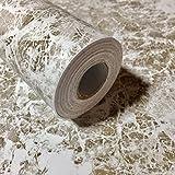RUDOSTYLE 大理石 壁紙 カッティングシート はがせる 壁紙シール 石目 45cm×10m (タイプゴールド)