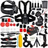 Erligpowht Common Foundation Accessories Kit for sj4000/sj5000 cameras and GoPro Hero 4/3+/3/2/1 Cameras in Parachuting Swimming Rowing Surfing Skiing Climbing Running Bike Riding Camping Diving Outing Any Other Outdoor Sports [並行輸入品]