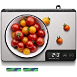 Amiloe MAX 33lb Kitchen Scale with Measure Length(8inch), Food Scales Digital Weight Grams and Oz with Shrink Hook, 6 Units,
