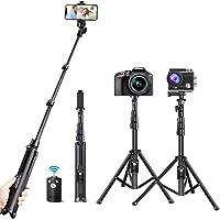 Tecboss 自撮り棒 Bluetooth カメラ三脚 スマホ 三脚 セルカ棒 軽量 無線 三脚/一脚兼用 360度回…