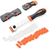 VALORILIMIT 3pcs Multi-purpose Razor Scrapers with Extra 40pcs Blades, Cleaning Tool for Removing Paint Label Decal Adhesive