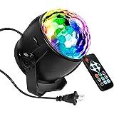 Flaradise ミラーボール ディスコライト ステージライト LED ポータブル 7色 リモコン付き パーティー KTV カラオケ クラブ バー照明用ライト