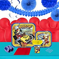 Mickey Roadster Party Supplies Tableware Decoration Kit (16) [並行輸入品]