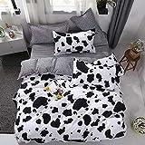 Chesterch Prevoster Teen Bedding Boys Girls Cow Print - Full/Queen,Kids Duvet Cover Sets Blue 3 Pieces (1 Duvet Cover and 2 P