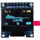 "HiLetgo 0.96"" SPI シリアル 128×64 OLED LCDディスプレイSSD1306液晶 STM32/51/MSP430/Arduinoに対応 ブルーイエロー [並行輸入品]"