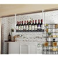クリエイティブホームバー、ワインラックハンギングガラスホルダー、ワイングラスラック、シェルフワイングラスホルダー、ワイングラスラック、ワイングラスラック、シャンパングラスラック、ガラス器具ラック (色 : 白, サイズ さいず : 120 * 35cm)